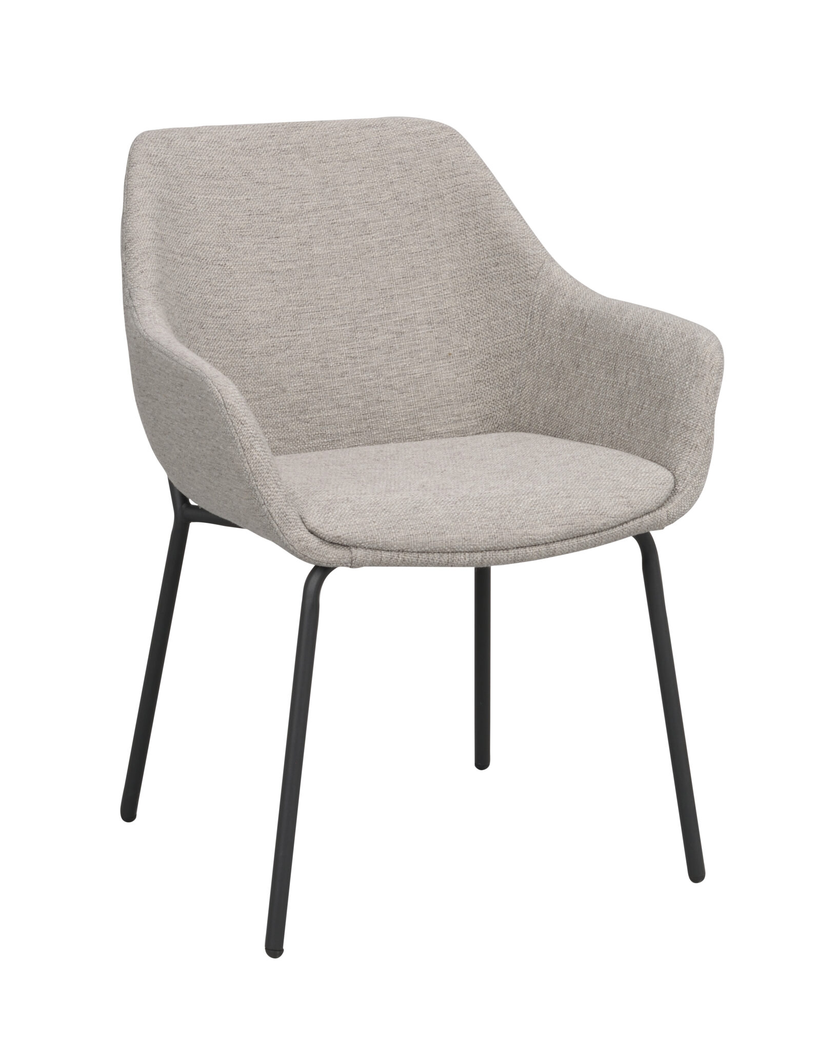 Haley arm chair Light grey_black 110480 1