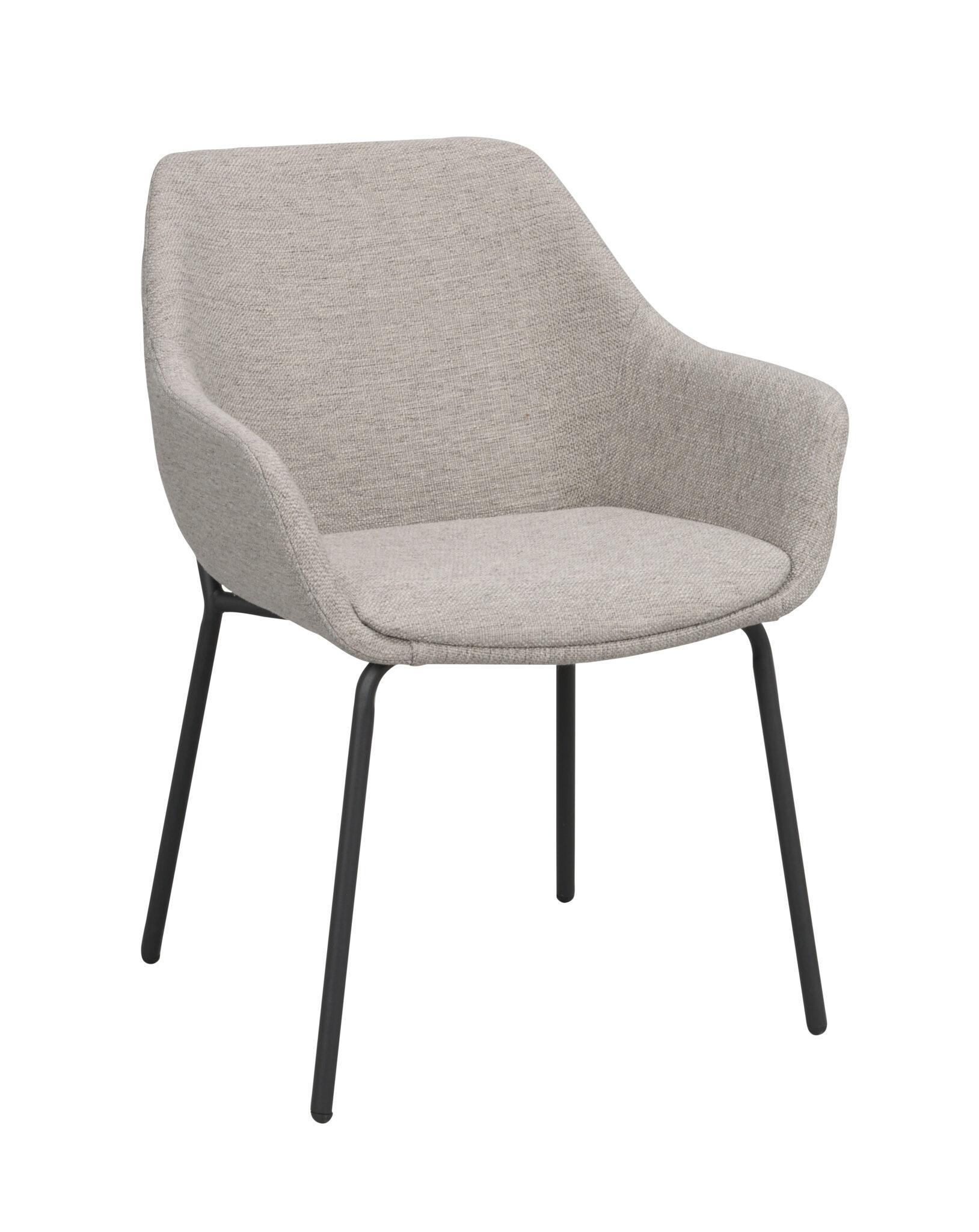 Haley arm chair Light grey_black 110480 1