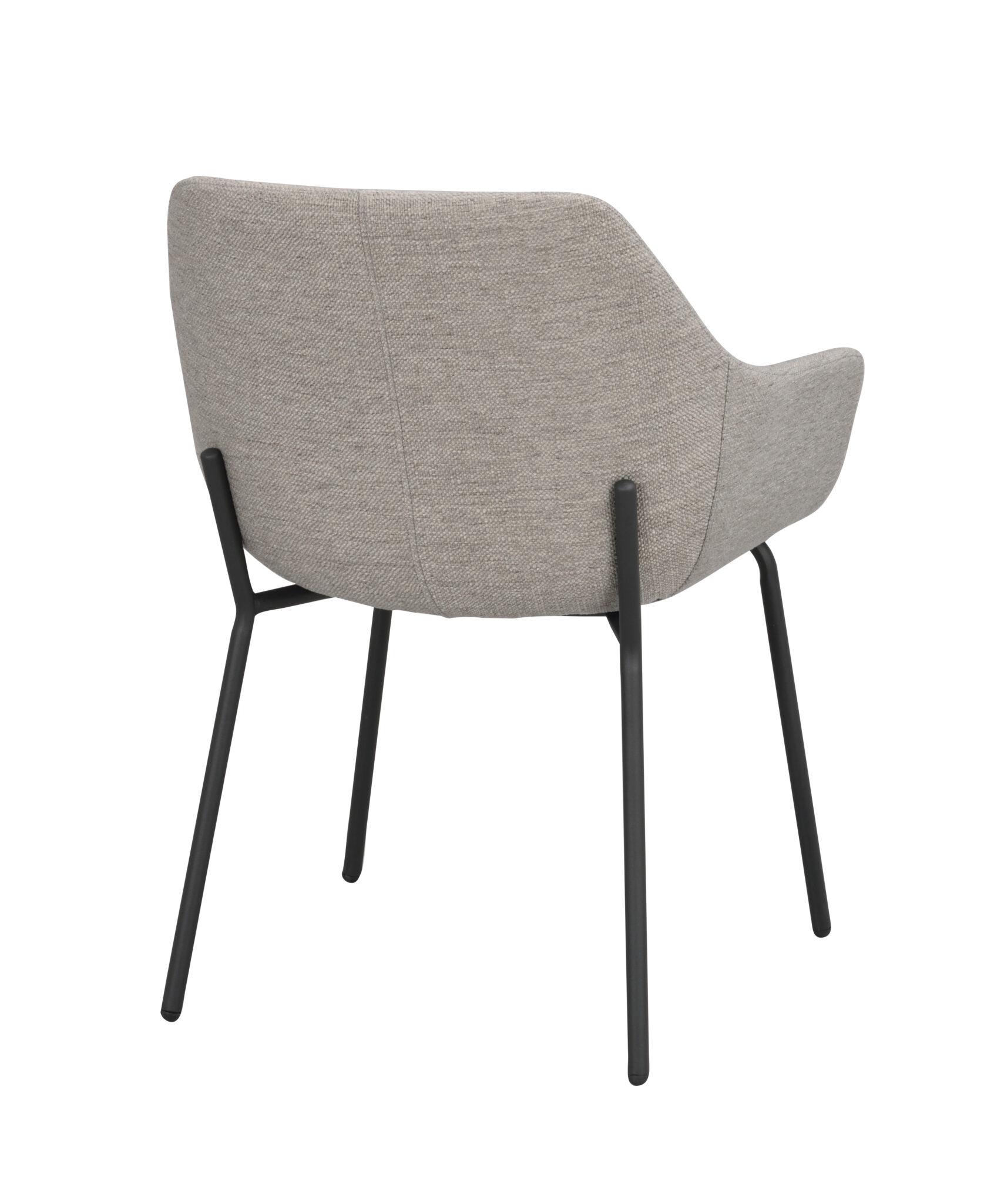 Haley arm chair Light grey_black 110480 3