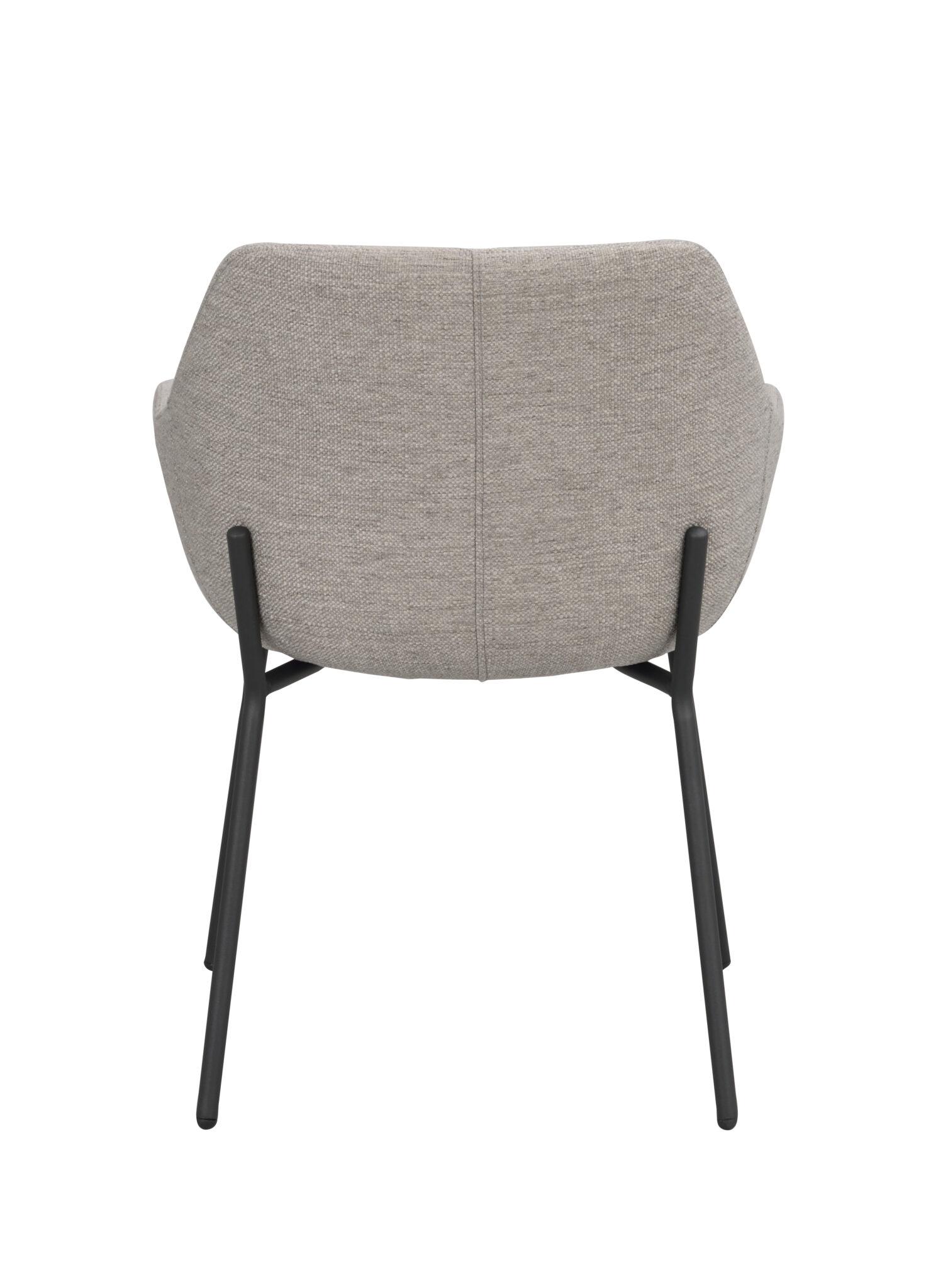 Haley arm chair Light grey_black 110480 4
