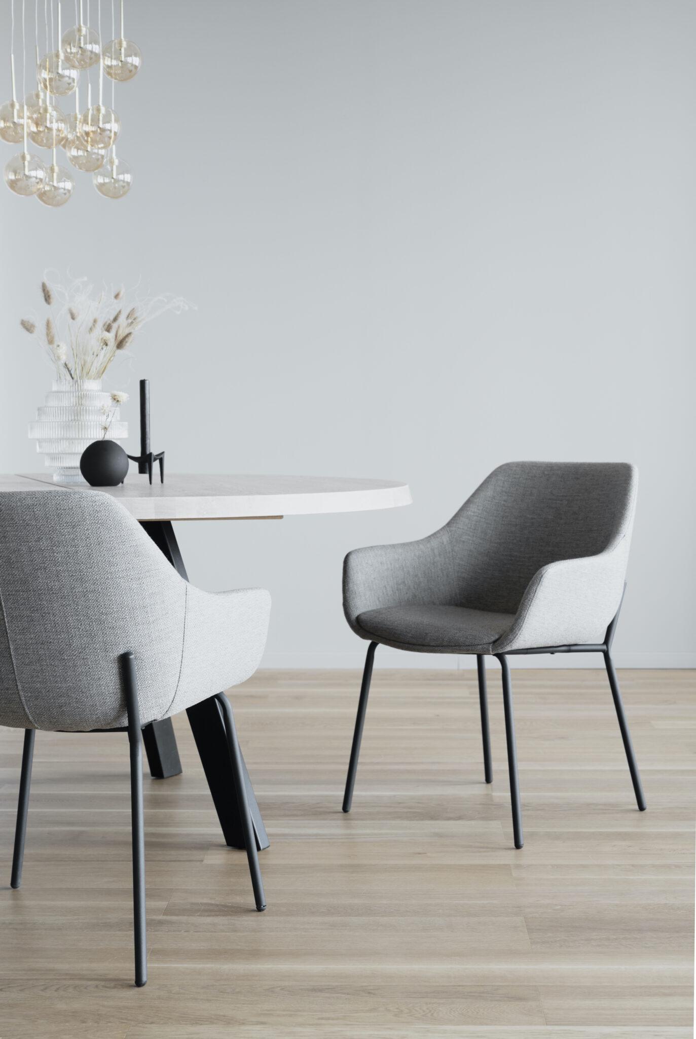 Haley arm chair Light grey_black 110480 7